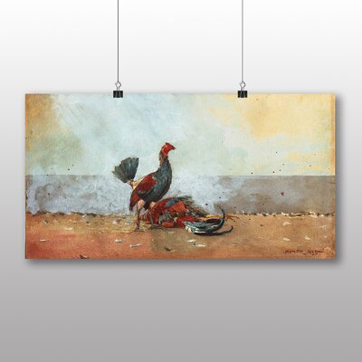 Big Box Art 'The Cock Fight' by Winslow Homer Art Print