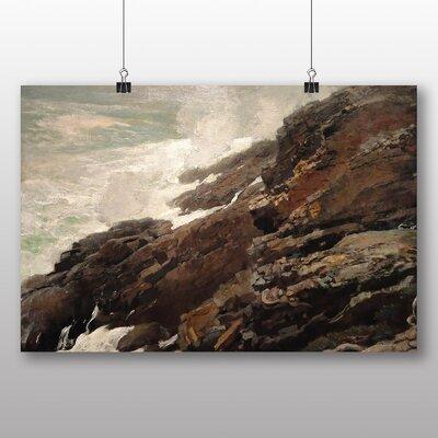 Big Box Art 'High Cliff Coast Maine' by Winslow Homer Art Print