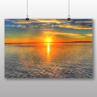 Big Box Art Wisconsin Lake Sunrise USA Photographic Print Wrapped on Canvas