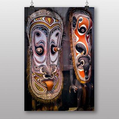 Big Box Art Mask Sculptures Papua New Guinea Photographic Print on Canvas