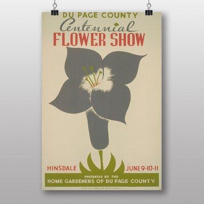 Big Box Art Flower Show Vintage Advertisement