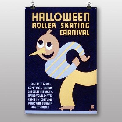 Big Box Art Halloween Roller Skating Carnival Vintage Advertisement