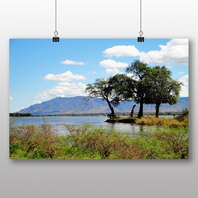Big Box Art Zambia Landscape Photographic Print Wrapped on Canvas
