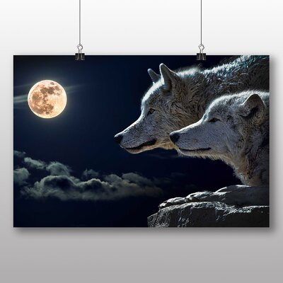 Big Box Art Wolf Wolves Photographic Print on Canvas