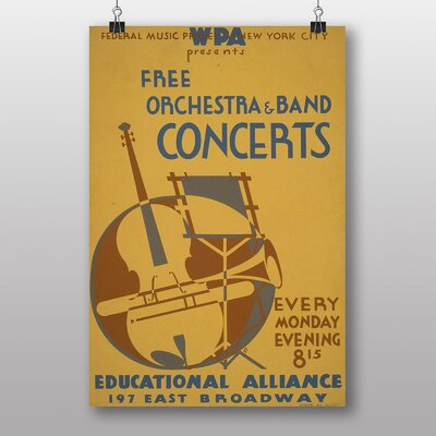 Big Box Art Orchestra and Band Vintage Advertisement