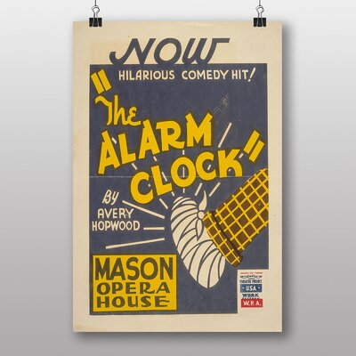 Big Box Art The Alarm Clock Vintage Advertisement