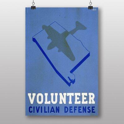 Big Box Art Volunteer Civilian Defense Vintage Advertisement