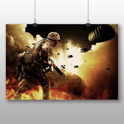 Big Box Art War Battle Scene Army No.1 Graphic Art Wrapped on Canvas
