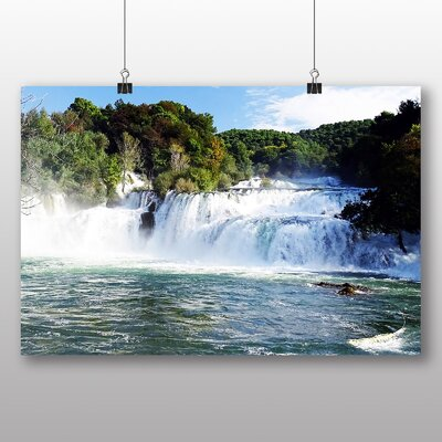Big Box Art Waterfall Croatia No.2 Photographic Print Wrapped on Canvas