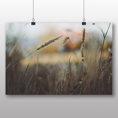 Big Box Art Wheat Fields Photographic Print Wrapped on Canvas