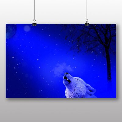 Big Box Art White Wolf Graphic Art on Canvas