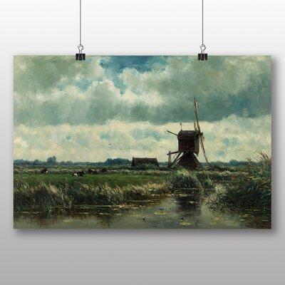 Big Box Art 'Landscape Windmill' by Willem Roelofs Art Print