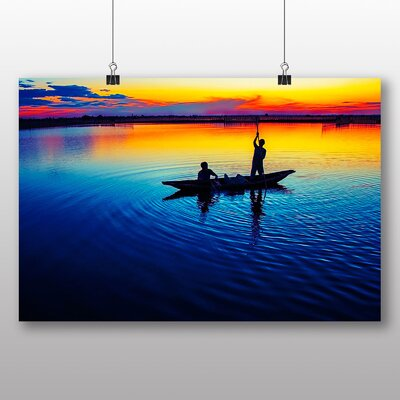 Big Box Art Working in Sunset Photographic Print on Canvas