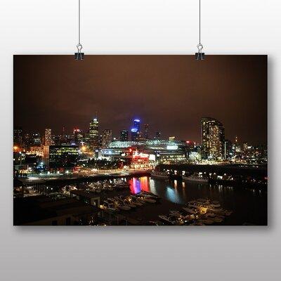 Big Box Art Melbourne at Night Skyline Australia No.2 Photographic Print