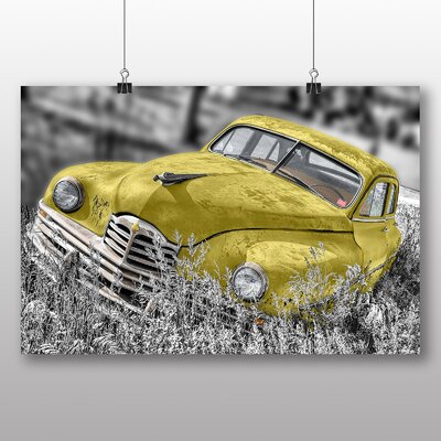 Big Box Art Vintage Classic Car Rusted No.5 Photographic Print