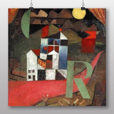 Big Box Art 'The Letter R' by Paul Klee Art Print