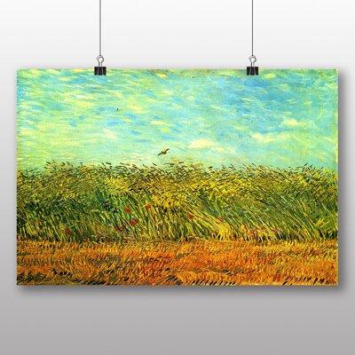 Big Box Art 'Wheat Field and a Lark' by Vincent Van Gogh Art Print