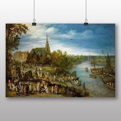 Big Box Art 'the Elder Parish Fair in Schell' by Pieter Bruegel Art Print