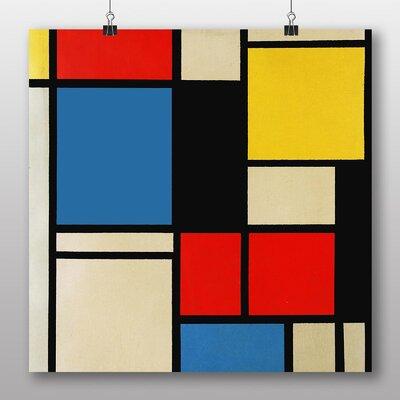 Big Box Art 'Lithograph' by Piet Mondrian Graphic Art