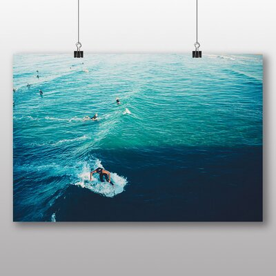 Big Box Art 'Surfers and Blue Waves' Photographic Print