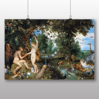 Big Box Art 'The Garden of Eden with the Fall of Man' by Peter Paul Rubens Art Print