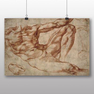 Big Box Art 'Adam' by Michelangelo Art Print
