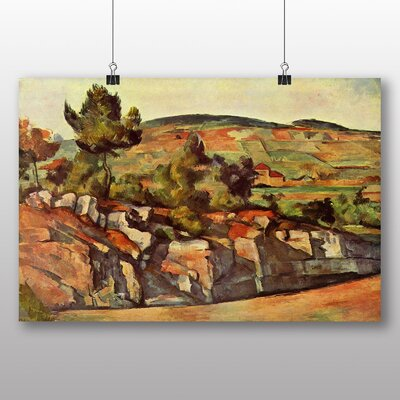 Big Box Art 'Mountains in Provence' by Paul Cezanne Art Print