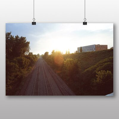 Big Box Art 'Sunset Over the Railway' Photographic Print