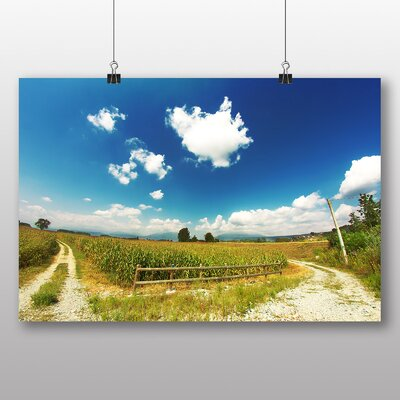 Big Box Art 'Summer Meadow and Blue Sky' Photographic Print