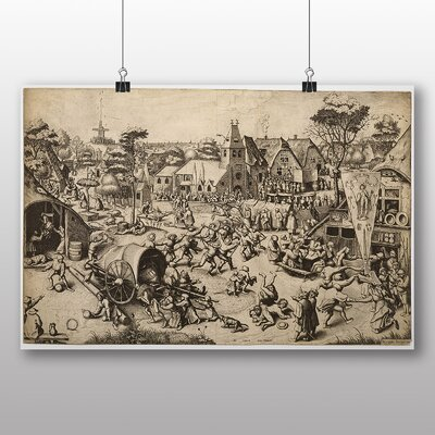 Big Box Art 'the Elder the Fair of St George's Day' by Pieter Bruegel Art Print