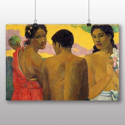 Big Box Art 'Three Tahitians' by Paul Gauguin Art Print