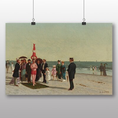 Big Box Art 'Performers on the Beach' by Samuel S. Carr Art Print