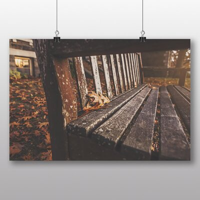 Big Box Art 'Park Bench in Autumn' Photographic Print