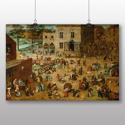 Big Box Art 'the Elder Childrens Games' by Pieter Bruegel Art Print