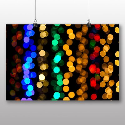 Big Box Art Coloured Blurred Fairy Lights Abstract No.5 Graphic Art