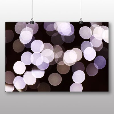 Big Box Art Lila Blurred Fairy Lights Abstract Graphic Art
