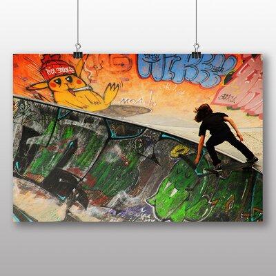 Big Box Art Skateboard Skateboarding Art Print