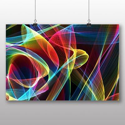 Big Box Art Smoke and Flames Abstract Graphic Art
