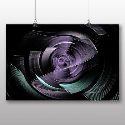 Big Box Art Pink Purple Fractal Abstract Graphic Art
