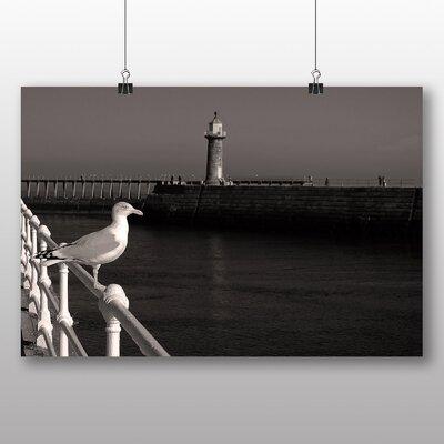 Big Box Art Seagull on Pier Photographic Print