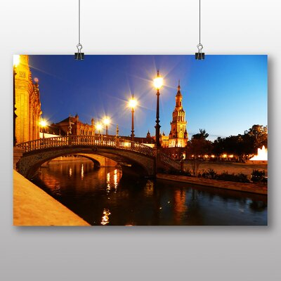 Big Box Art Plaza Espana Seville Spain Photographic Print