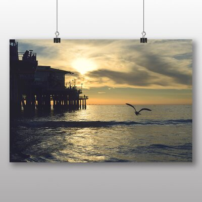 Big Box Art Seagull by the Pier Photographic Print