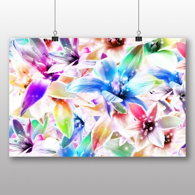 Big Box Art Mixed Colour Orchid Flower Graphic Art