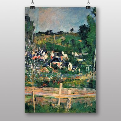 "Big Box Art ""View of Auvers"" by Paul Cezanne Art Print"