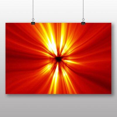 Big Box Art Red Abstract Design Graphic Art