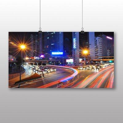 Big Box Art Shenzhen Blurred Lights China Photographic Print