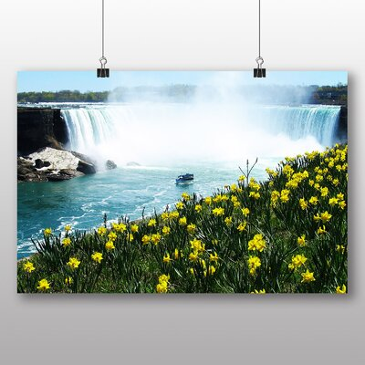 Big Box Art Niagara Falls Daffodils Flowers Photographic Print