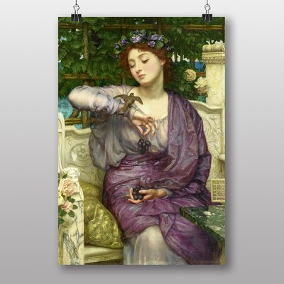 Big Box Art Lesbia and her Sparrow by Sir Edward John Poynter Art Print