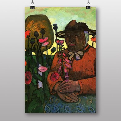 "Big Box Art ""Woman and Flowers"" by Paula Modersohn Becker Art Print"