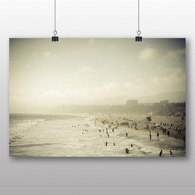 Big Box Art Santa Monica Beach Photographic Print